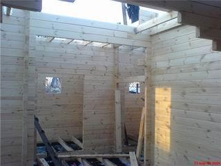 Дачный дом своими руками, постройка брусового домика