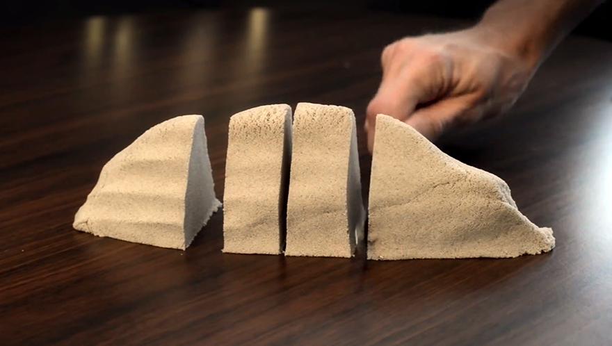 Кинетический песок - достойная альтернатива конструктору лего
